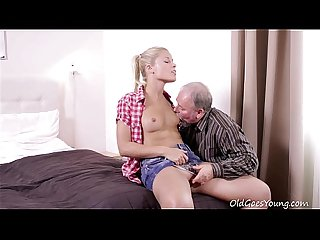 Old Goes Young - Elena can't believe how good this old man is at having sex