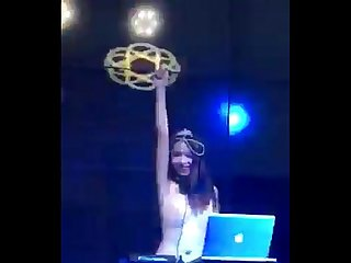 Topless Chinese DJ