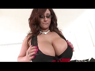 Huge tits hot babe uses toy dildo