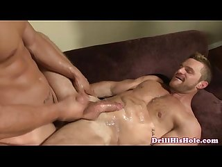 Muscled tight bottom gets destroyed by stud top