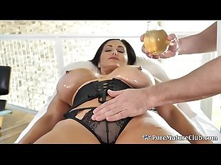 Huge Boobs Cougar Milf Ava Addams Oiled Up Massage Fuck