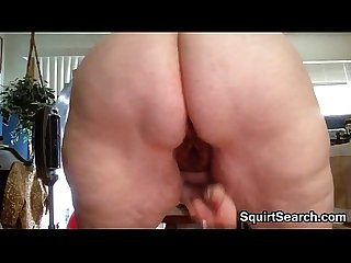 BBW Masturbates With Her Red Toy At Home