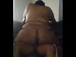 Lettin her bounce that big beautiful ass on my dick until I can�t take it!!
