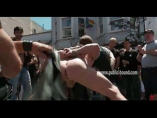 Gay slave is flogged