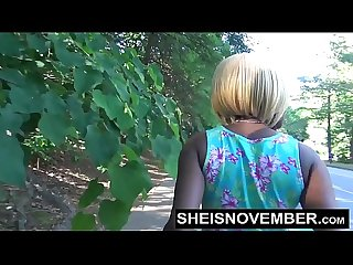Sheisnovember Ebony Teen Babe Blowjob In Street Sloppy Head