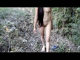 My Girlfriend Totally Naked Flashing Walking And Dancing Lakeside and Motorway