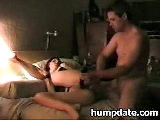 Sexy wife gets dildo in pussy and cock in ass