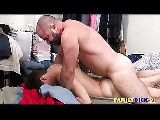 Daddy Rough Fucking His Sons Asshole