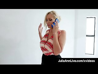 Horny Milf Julia Ann Gets House Sale By Giving Wet Blowjob!