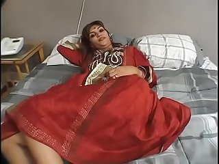 Sex tits Indian honey gets pussy slammed hard by two white dong in bed