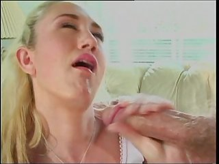 young blonde girl fucked hard in ass and facial cum