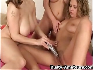 Big Boobs Lesbians on Group Sex