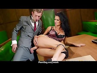 Horny Big-tit MILF fucks employee's big-dick in the office 17