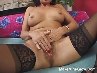 Hot MILF Show Her Hairy Pussy