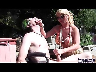 Blonde Mom Sophee Dee Dominating Her Son