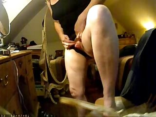 Enjoy big clit of my mom. Hidden cam