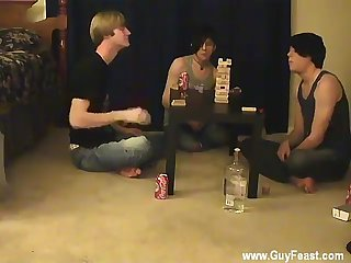 Men jacking off twinks Trace and William get together with their