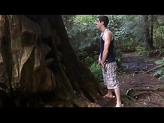 jacking off in the woods