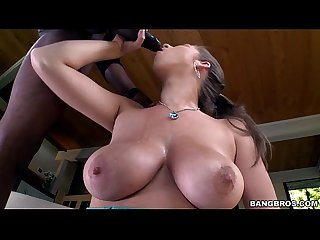 Brunette Amateur with Real Tits Enjoying a Long Black Dong