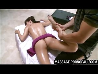 Teen stripped nude for kinky massage