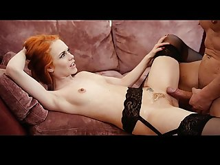 Fucks a Sexy Redhead Girl and Cumshot on Red Hairy Pussy - chatscams.com
