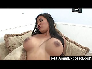 RealAsianExposed - Allanah Li fingers her pussy before fucking